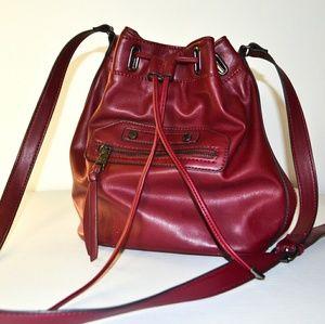 Steve Madden Burgundy Satchel Crossbody Bag